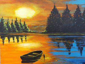 Landscape-Glorious Orange