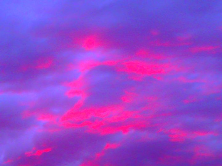 Pink Clouds at Sunset - Galaxy9 Creations