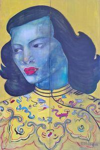 BLUE CHINA WOMAN
