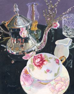 Formal Tea - Lynne Reichhart Fine Art