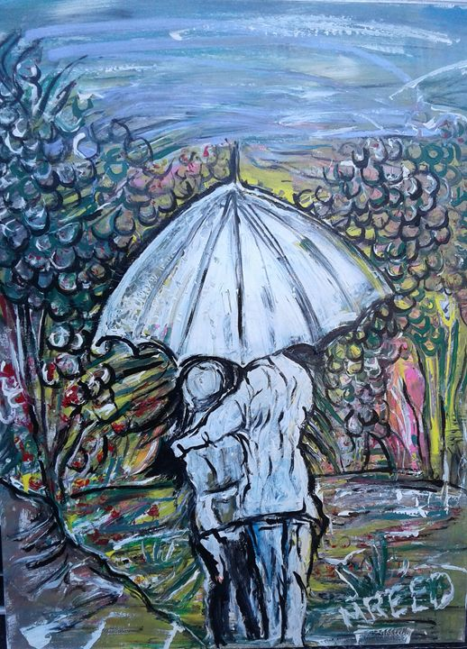 Walking in the rain - Reeds gallery