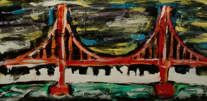 Great Golden Gate at night - Reeds gallery