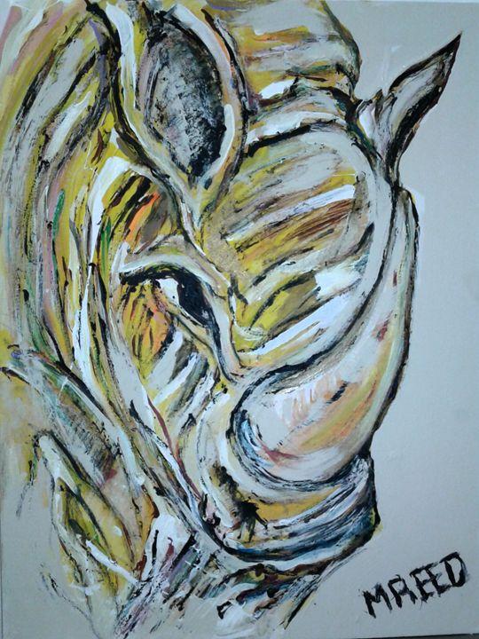 Yellow rhino - Reeds gallery
