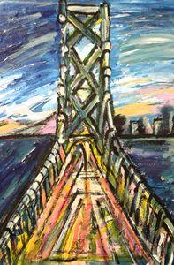 Abstracted  Bay Bridge