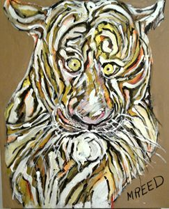 Abstracted  tiger