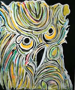 Abstracted  owl
