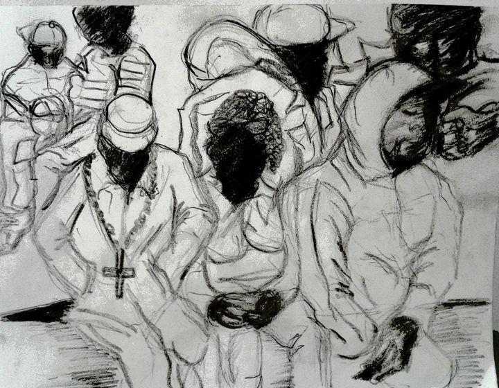 pencil sketch - Reeds gallery