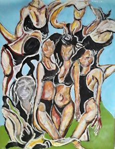 Abstract lady's