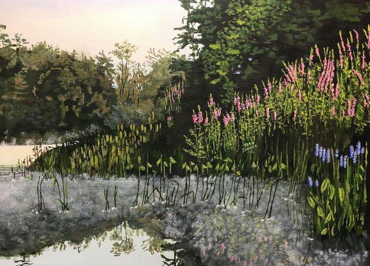 Morning Mist on the Sebasticook - Jean Savage Art
