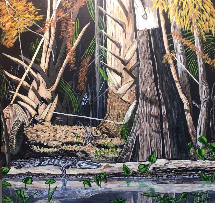 Kayaking in Florida - Jean Savage Art