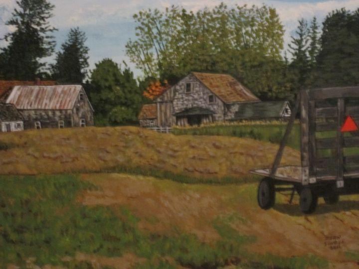 Haying in Benton Maine - Jean Savage Art
