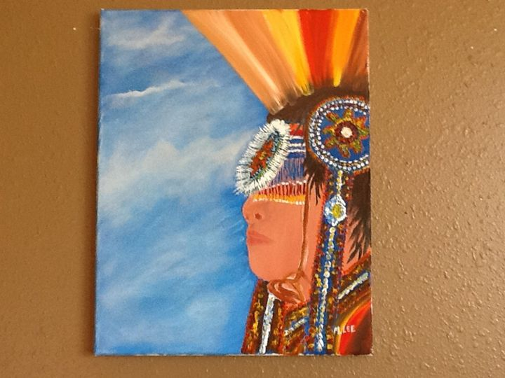 Indian in the sky original oil - Leeway