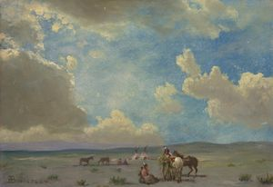 Indian Encampment, Albert Bierstadt