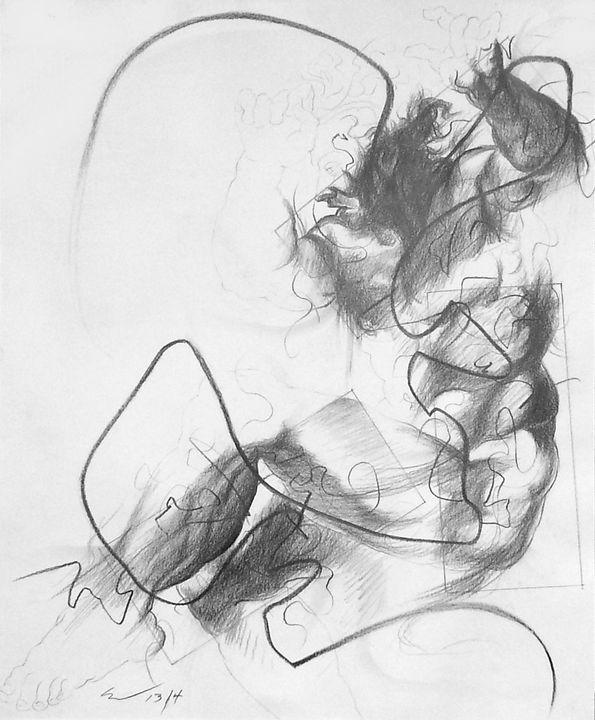 Small Ignudo 4 (after Michelangelo) - Richard Claraval Art