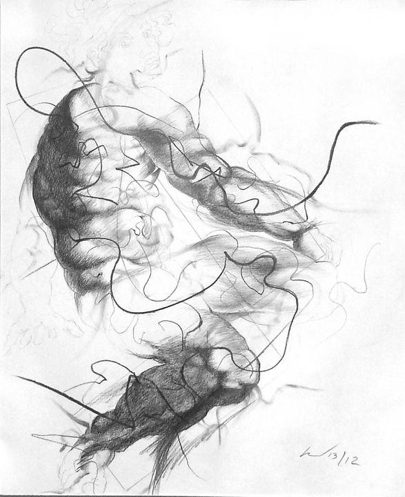 Small Ignudo 12 (after Michelangelo) - Richard Claraval Art