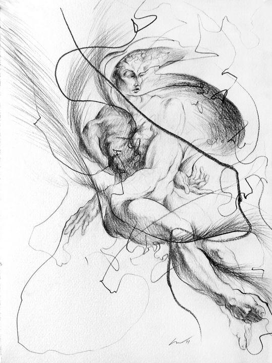 After Michelangelo 6 - Richard Claraval Art