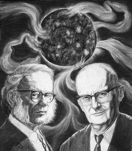 Issac Asimov and Arthur C Clarke