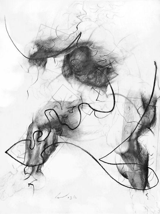 Small Ignudo 6 (after Michelangelo) - Richard Claraval Art