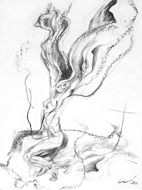 Butterfly Woman - Richard Claraval Art