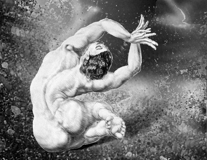 Beautiful Female Nude - Cosmic Woman - Richard Claraval Art