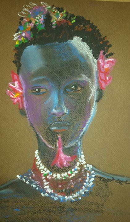 Ethiopian Flower Girl - raphael