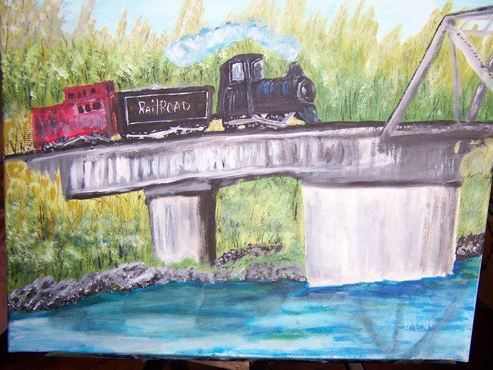 trains how I love trains - ART BY RITA