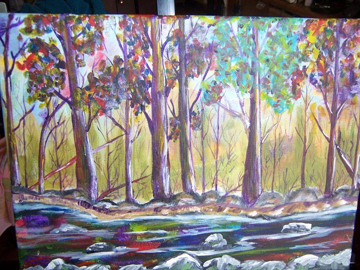 streams in nature - ART BY RITA