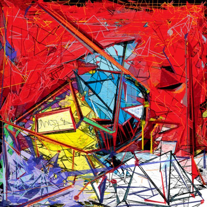 Intricate Scaffolding, abstract art - DEMArtwork (Denise Elaine Morgan)