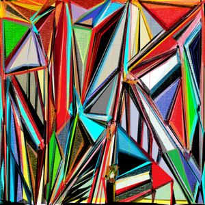 A Mesh of Pigments, abstract art
