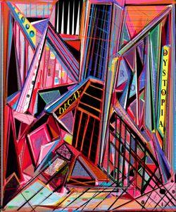 Dystopia, abstract digital artwork