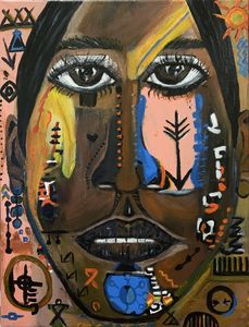 Hopi, a Native American Youth - DEMArtwork (Denise Elaine Morgan)