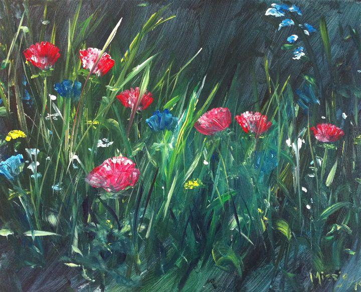 Wild : 16x20 Acrylic on Canvas - Artist Miesje