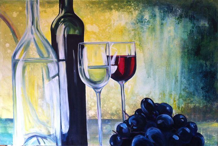 Wine Time :30x40 - Artist Miesje