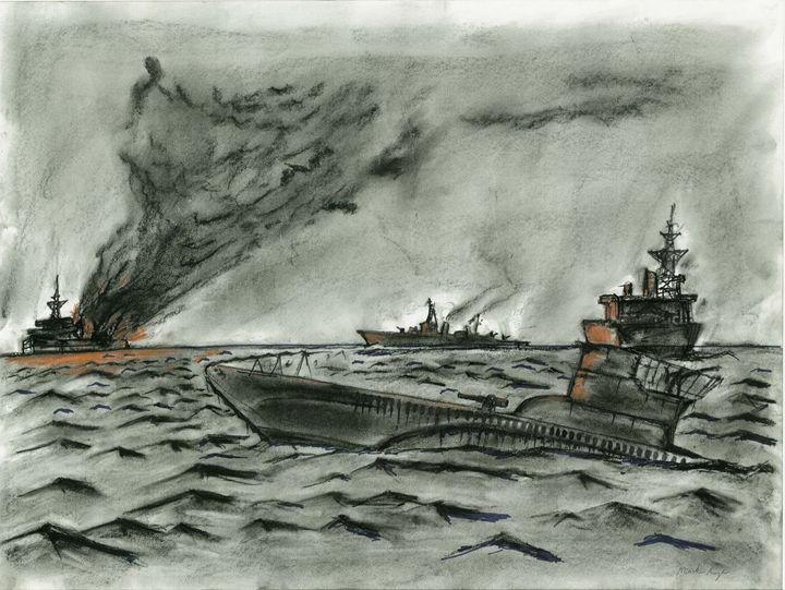 u-boat attack! - mark art