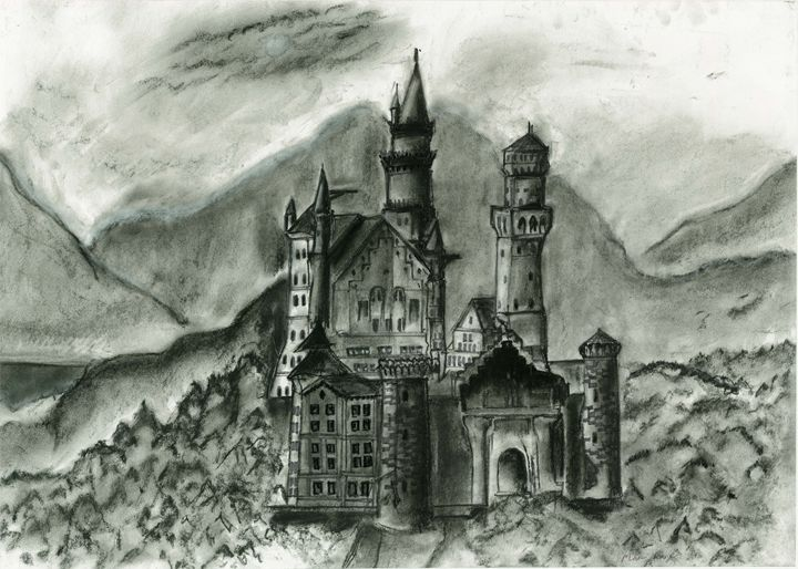 castle in the mist - mark art