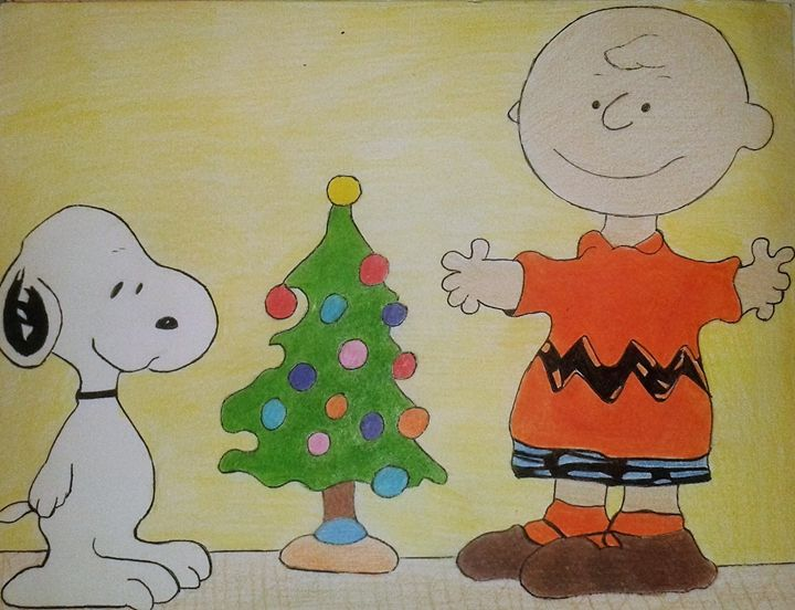 Charlie Brown Christmas Tree Drawing.Charlie Brown Christmas Artstudent82 Drawings