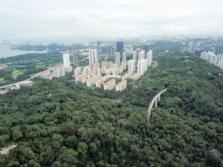Aerial Landscape of Mount Faber park - CaptainMavicPro