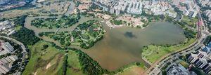 Aerial Panorama Chinese Gardens