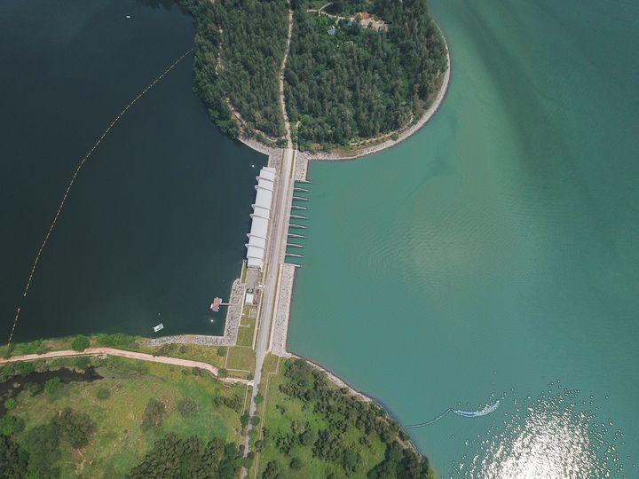 Aerial shot of Coney Island - CaptainMavicPro