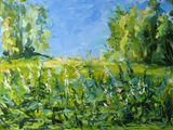 Meadow original oil painting