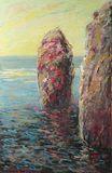 Sea Cliffs original oil painting