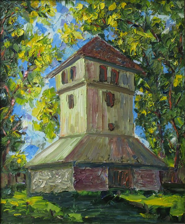 Church Bell Tower - Liudvikas Daugirdas