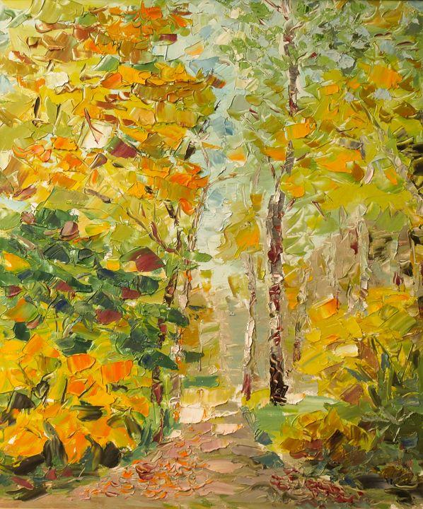Park-in-Autumn - Liudvikas Daugirdas
