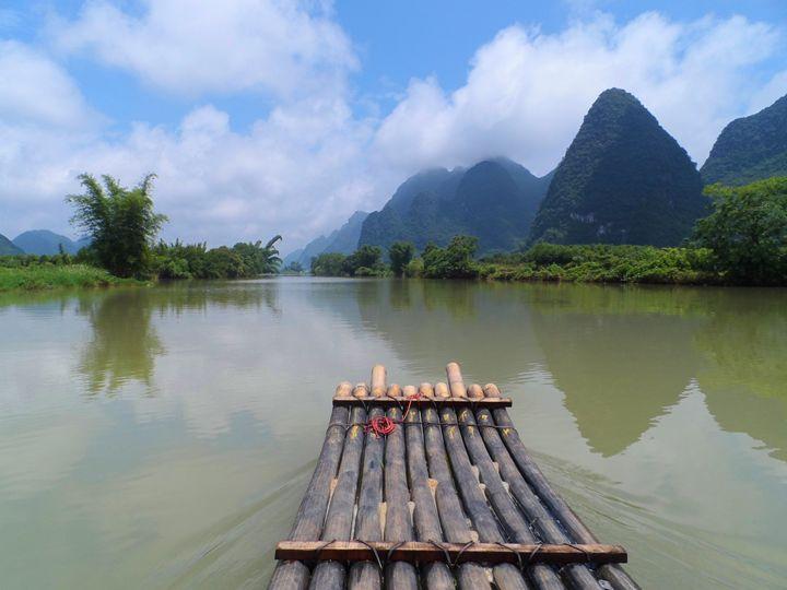 Bamboo raft in Yangshuo - Kerry Chapman