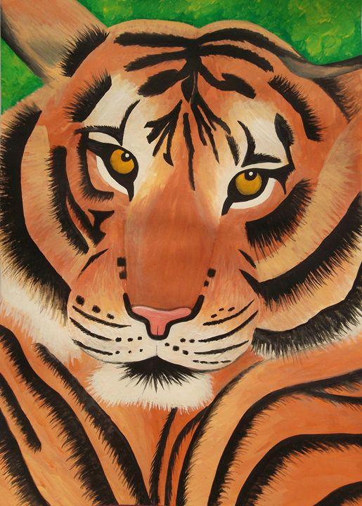 Tiger face - Kerry Chapman