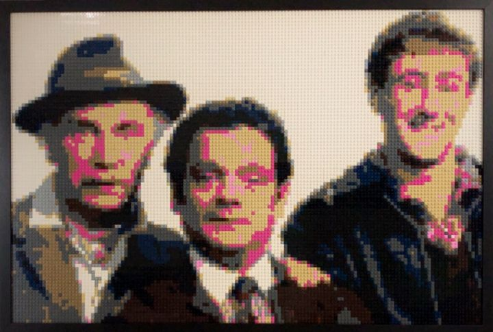 Lego Only Fools And Horses Mosaic - Brick Art By James.J.Bacon
