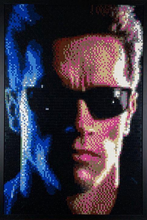 Terminator Lego Mosaic - Brick Art By James.J.Bacon