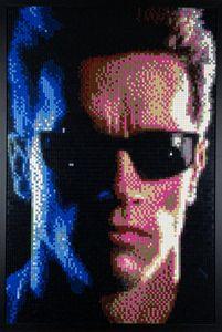 Terminator Lego Mosaic