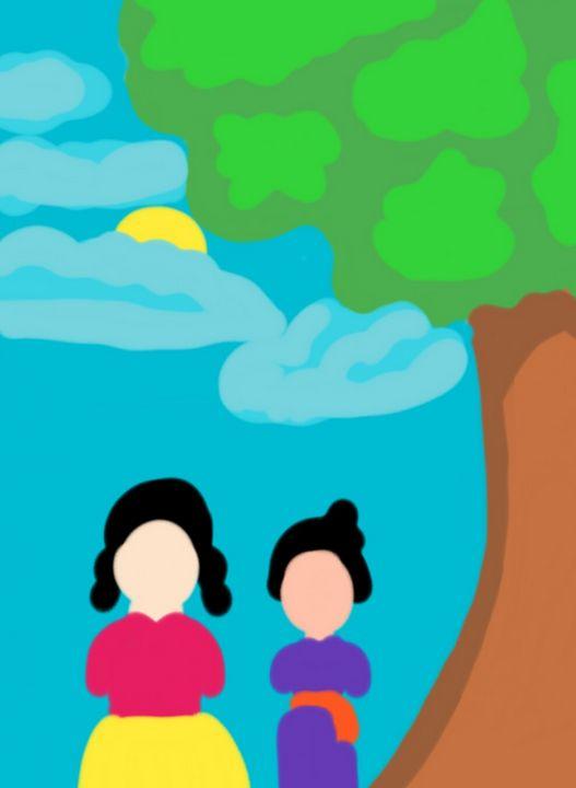 Friends walking-Digi art 003 - Prakrish