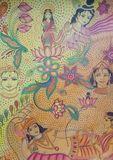 Vishnu and lakshmi dot art